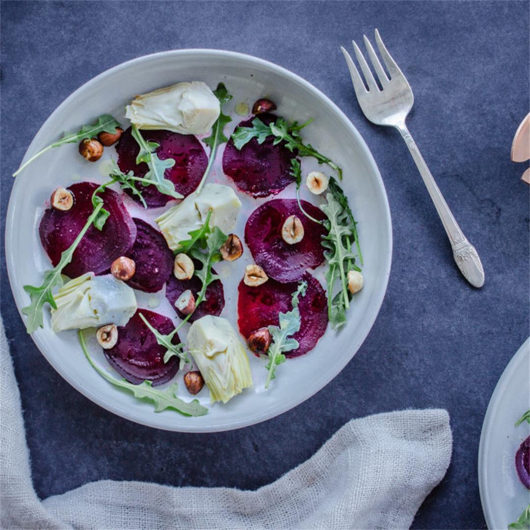 Winter Beet & Artichoke Salad (vegan & gluten-free)