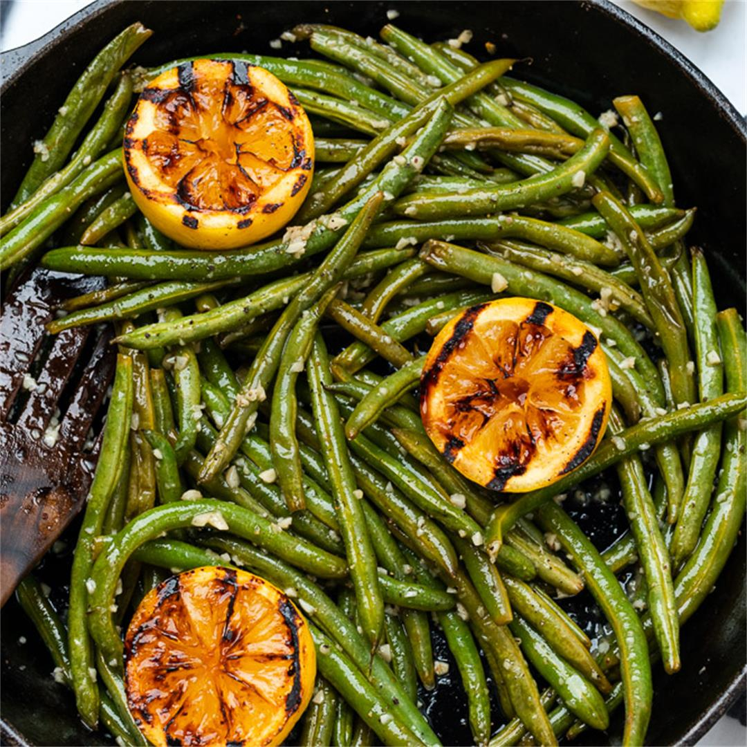 Roasted Green Beans with Garlic and Lemon