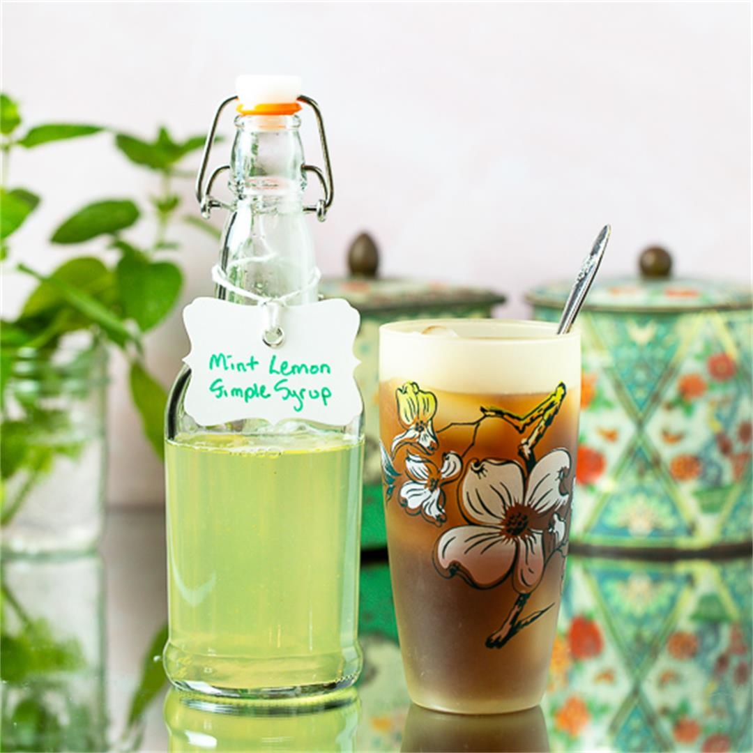 Mint Lemon Simple Syrup