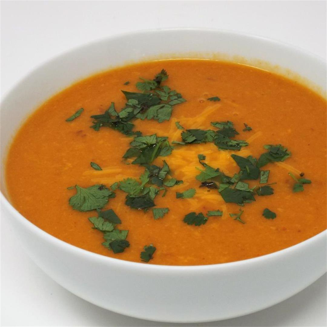 Chipotle Sweet Potato and Cheddar Soup