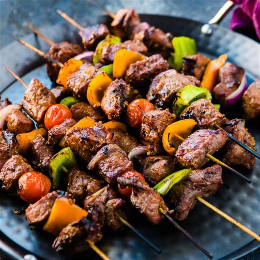 How To Make Peppered Stick Meat (Beef Skewers / Kebab)