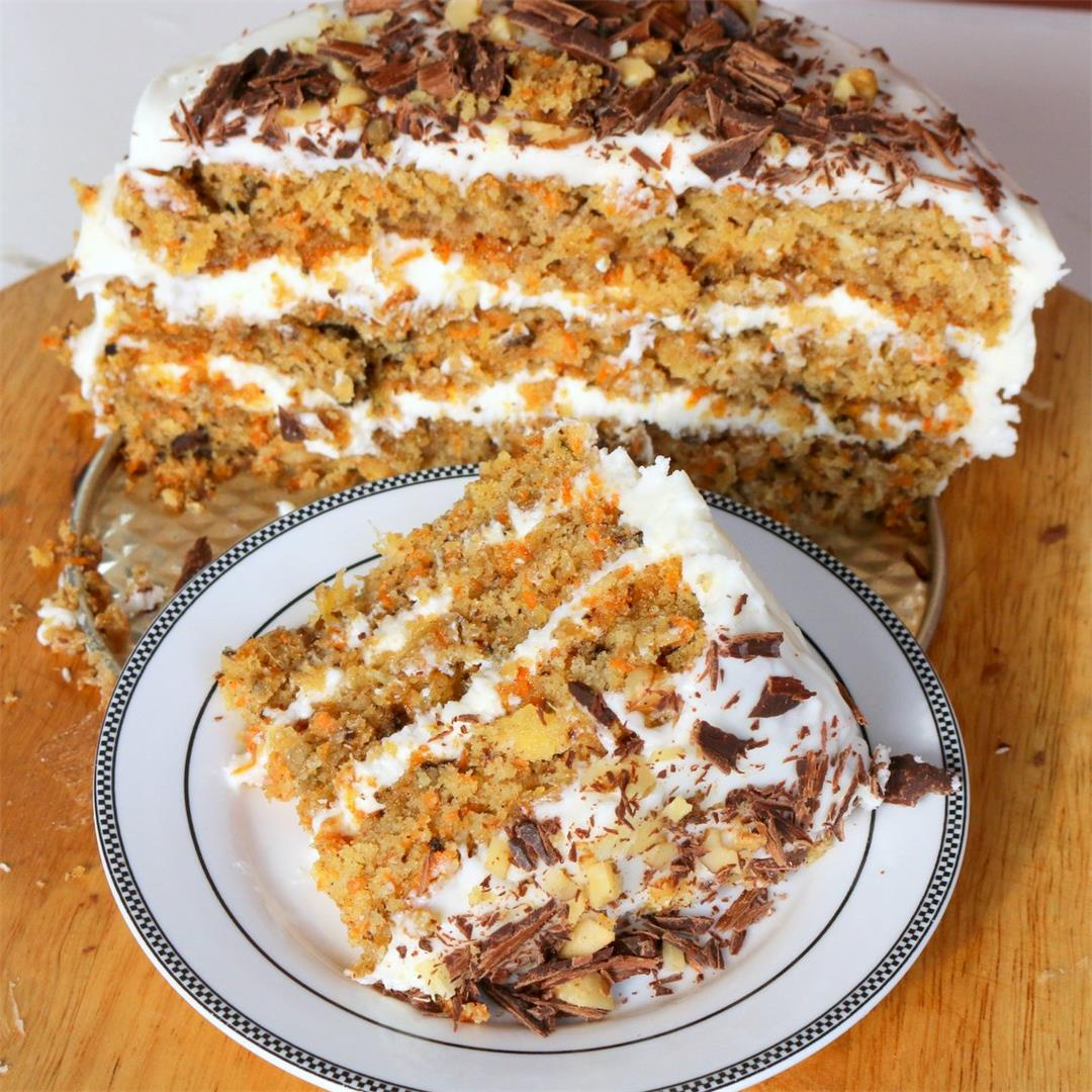 Carrot Cake with Pineapple-Entertaining Award Recipe