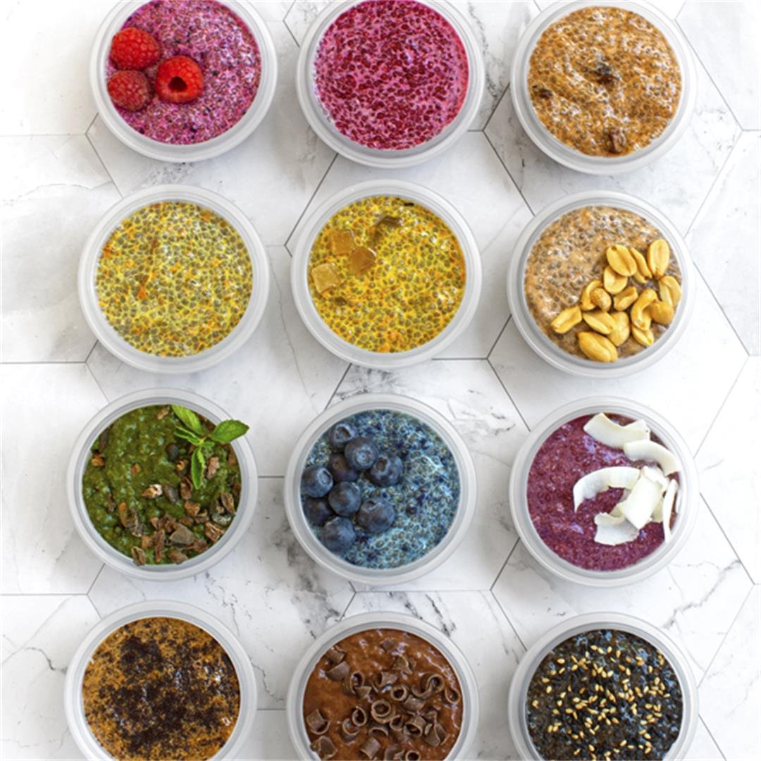 Choose-Your-Own-Adventure Rainbow Chia Puddings
