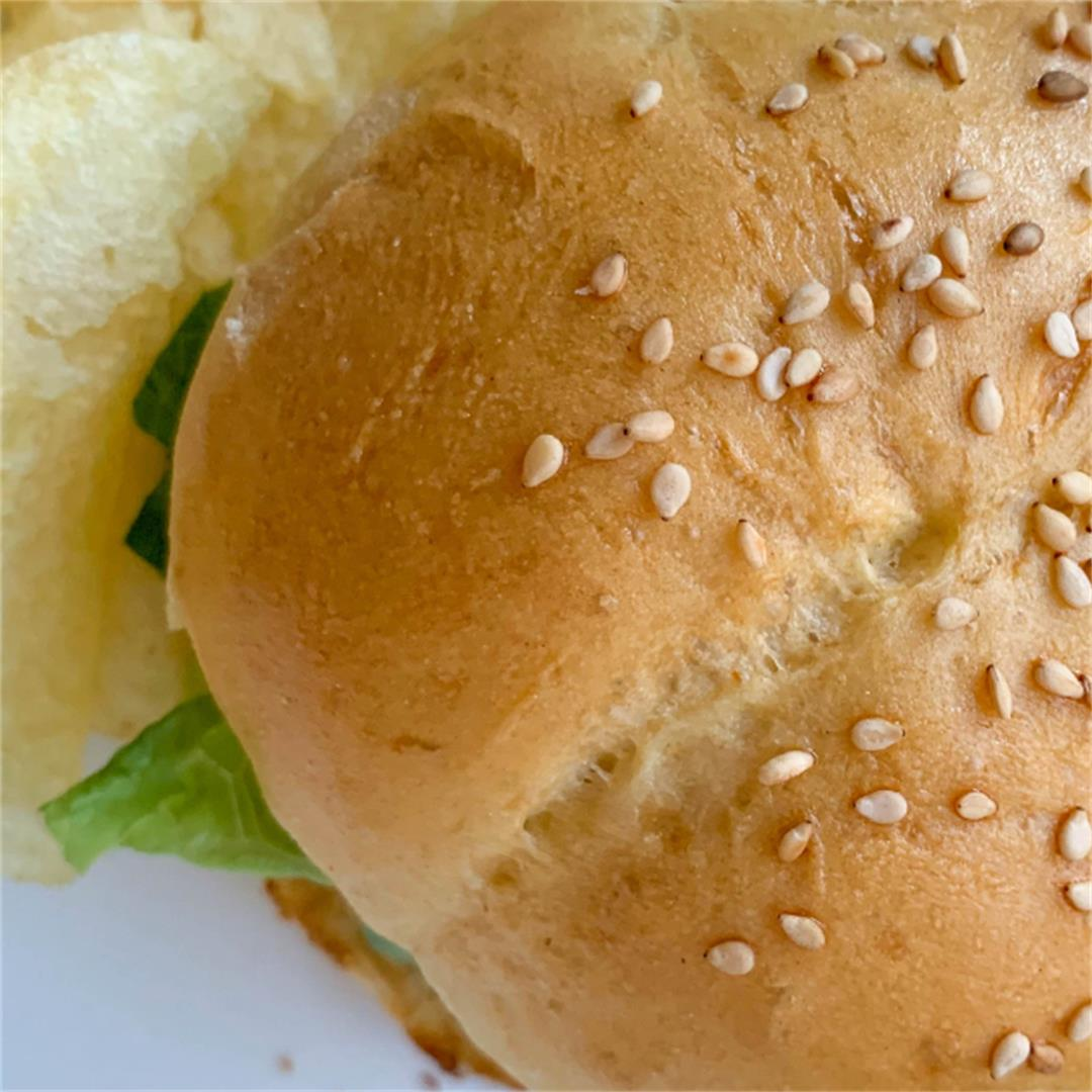Homemade Sesame Hamburger Buns