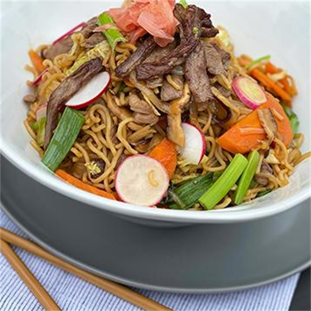 Miyazakigyu Wagyu Strip Steak Yakisoba