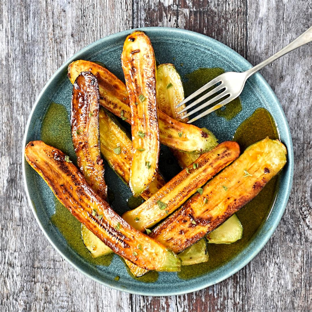 courgettes with paprika, saffron and oregano