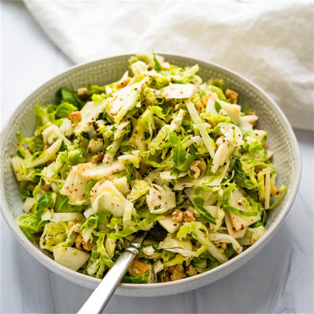 Brussel Fennel Apple Slaw