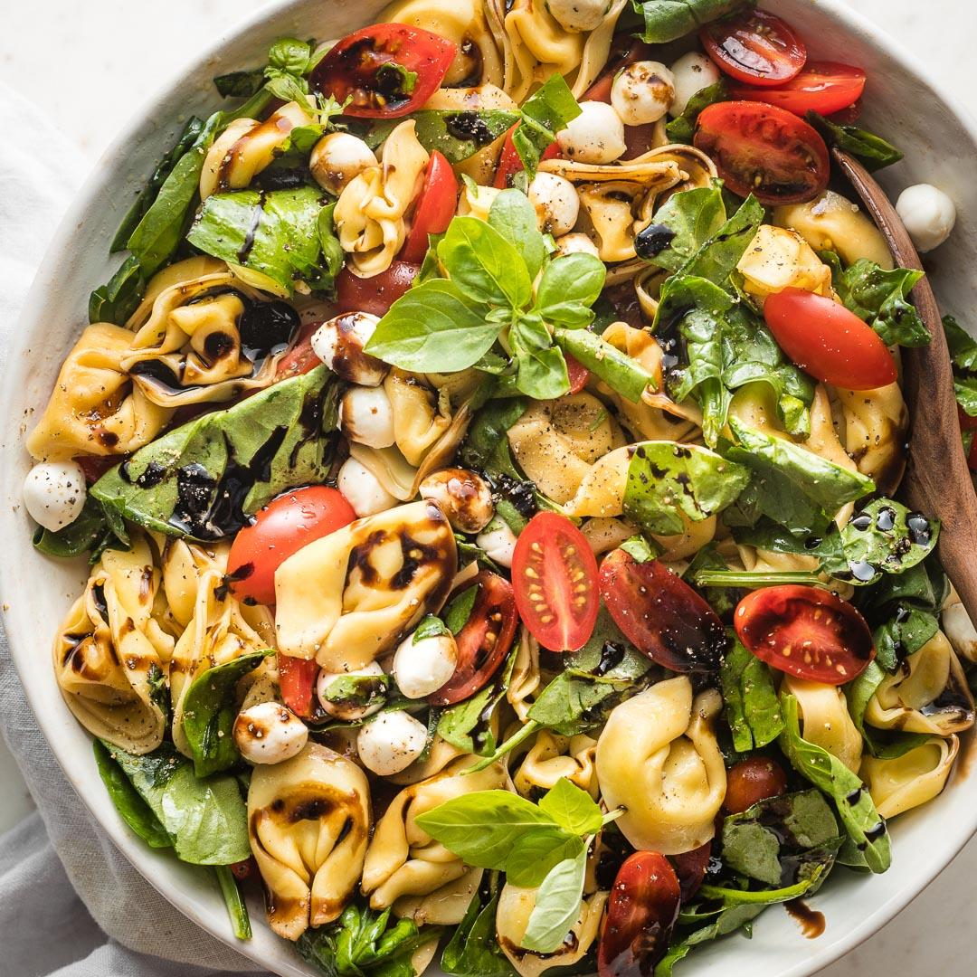 Balsamic Tortellini Caprese Salad