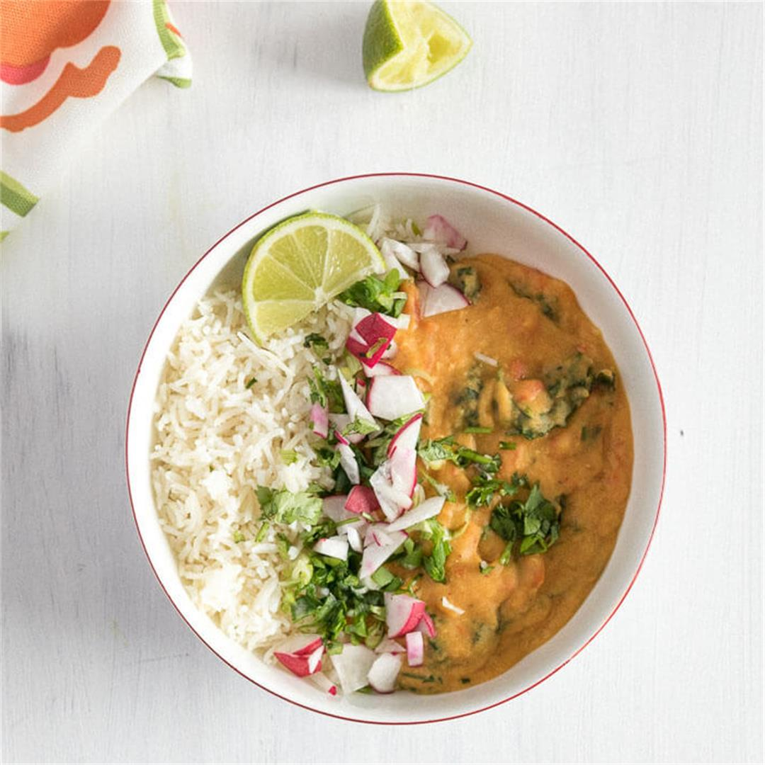 Coconut Red Lentil Curry {IP, Vegan, G/F}