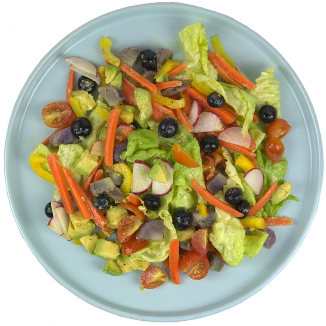 Vegetable and Fruit Rainbow Salad – A Gourmet Food Blog
