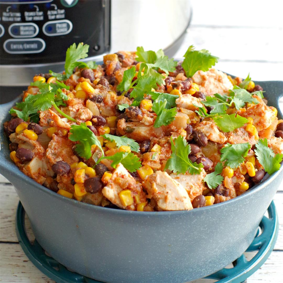 Healthy Slow Cooker Mexican Chicken