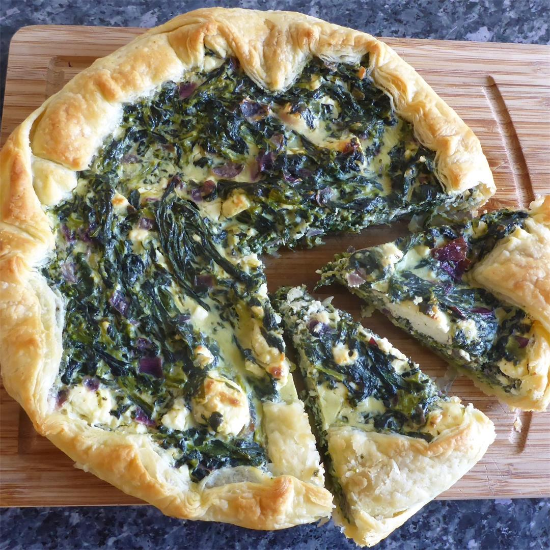 Easy Spinach And Feta Puff Pastry Quiche