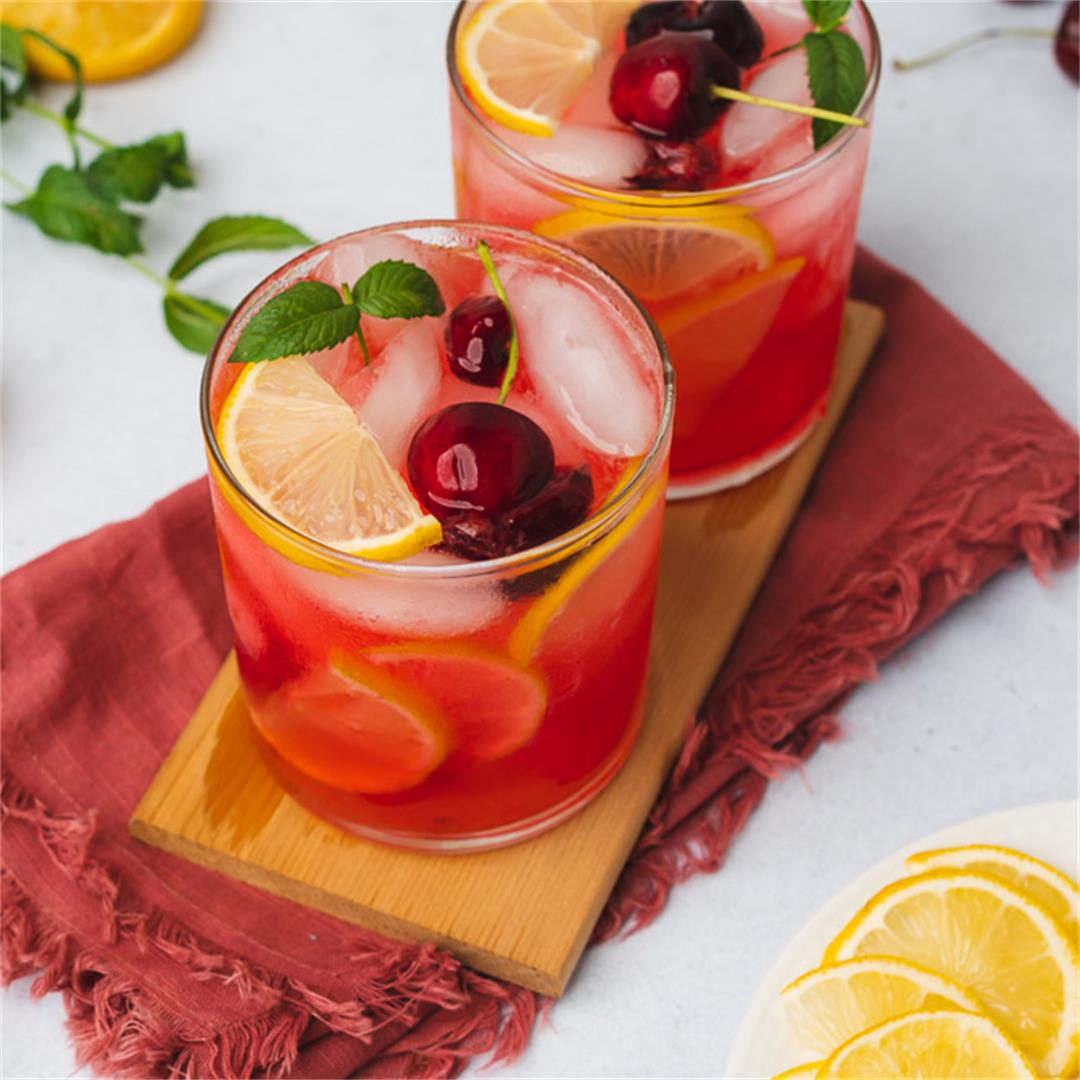 Healthy Sugar Free Cherry Lemonade Recipe