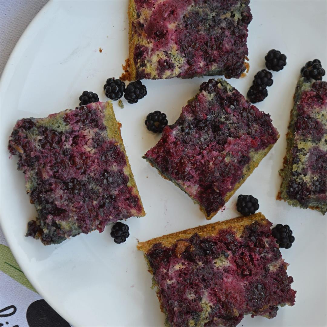 Easy Blackberry Traybake — Tasty Food for Busy Mums Seasonal