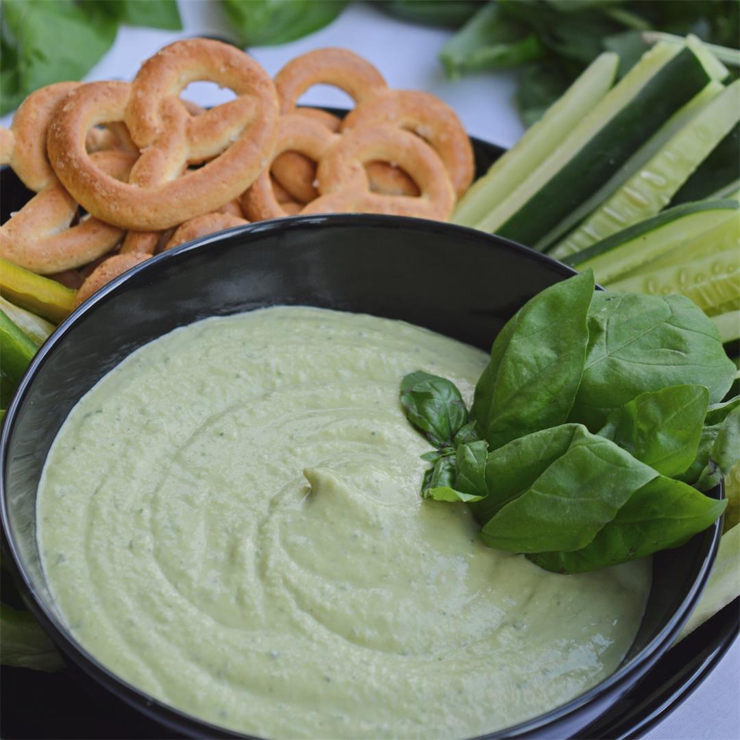 Creamy Basil Hummus
