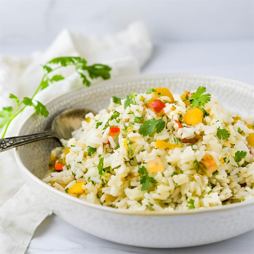 Simple Hawaiian Rice Pilaf with Pineapple Chutney