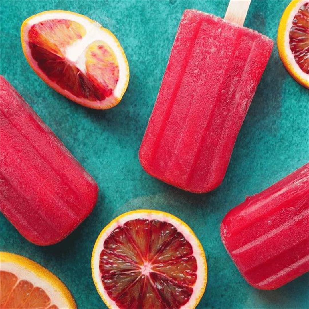 Ruby grapefruit and blood orange popsicles