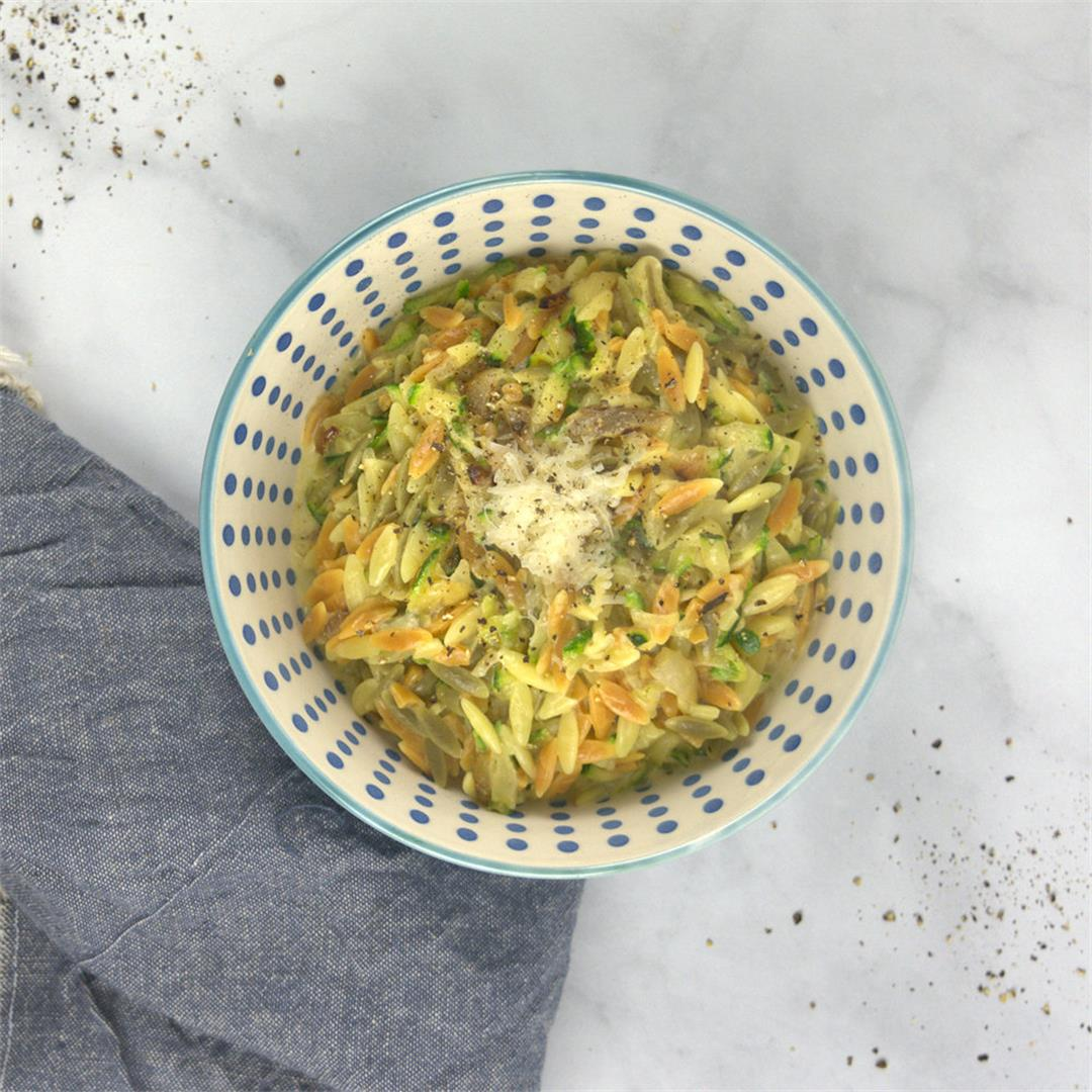 Orzo with Zucchini – A Gourmet Food Blog