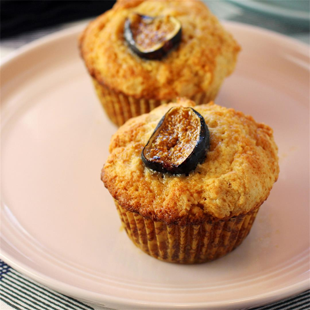 Ricotta and Olive Oil Muffins with Figs