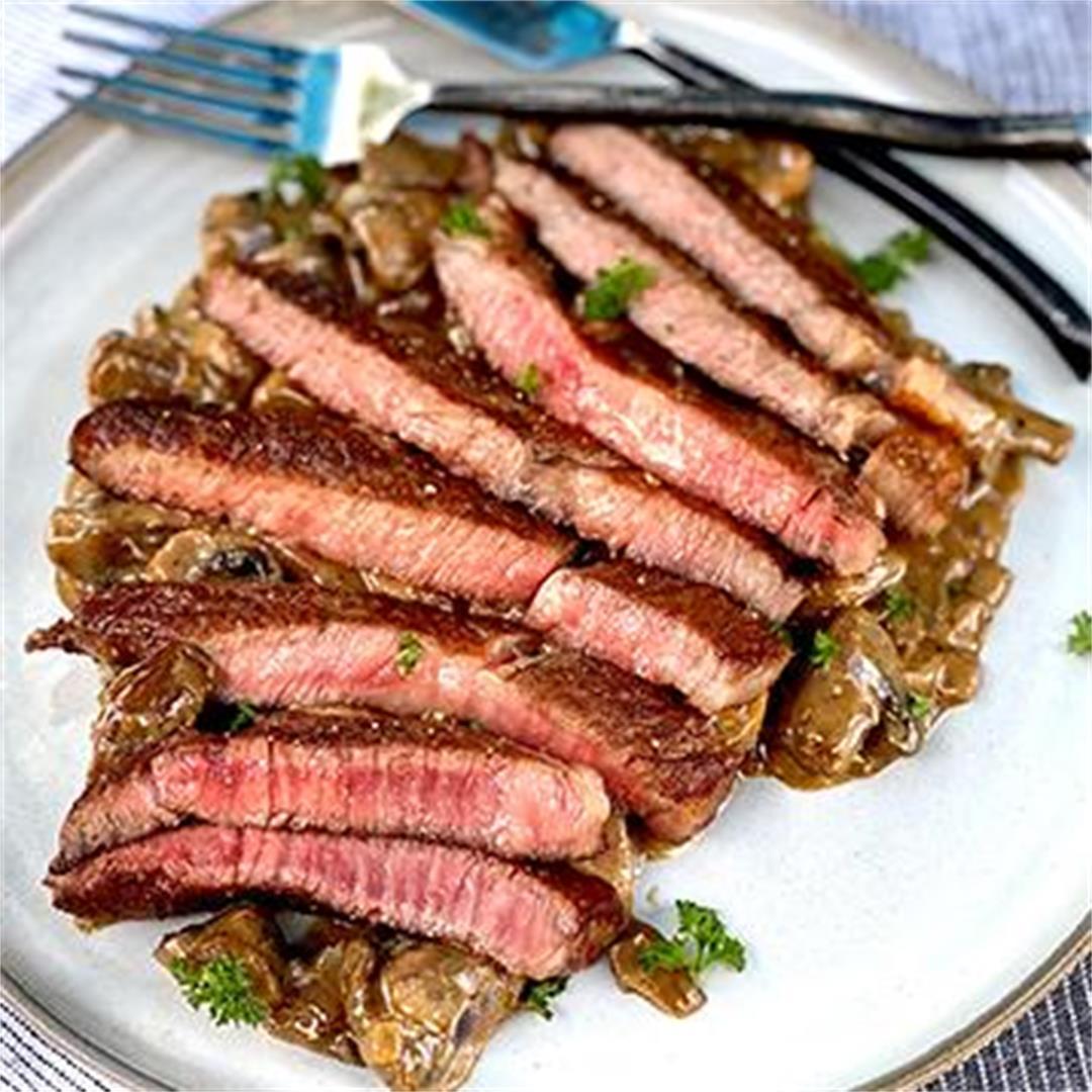 Steak Diane with Miyazakigyu Wagyu Ribeye