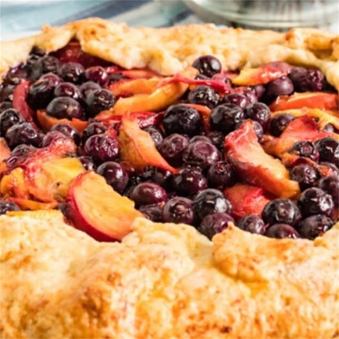 Peach Blueberry Galette Recipe