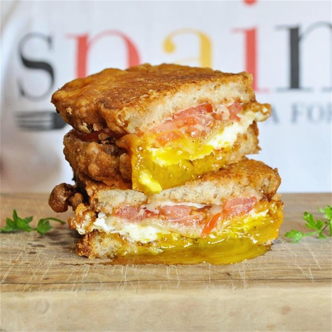 The BEST-EVER Breakfast Sandwich with Crispy Eggs & Cheese