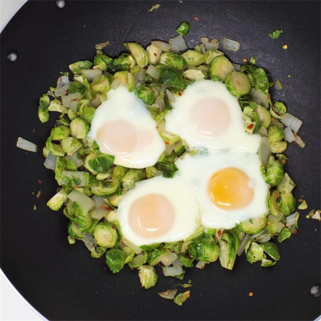 Spicy Brussels Sprouts and Eggs
