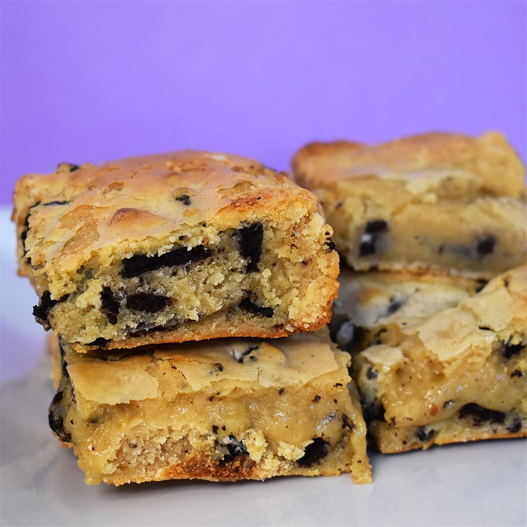 Oreo White Chocolate Blondies