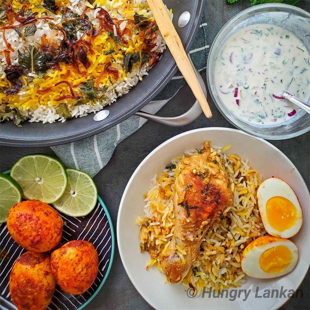 Chicken Dum Biryani (Kacchi style)