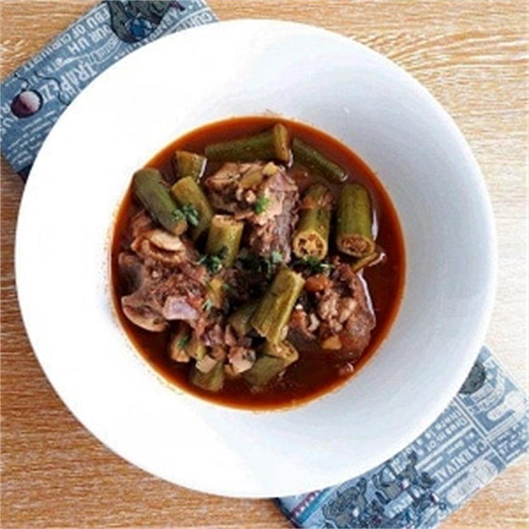 Beef Bamia Recipe (Okra Beef Stew)