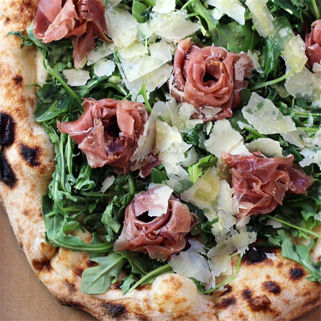 The prettiest prosciutto pizza