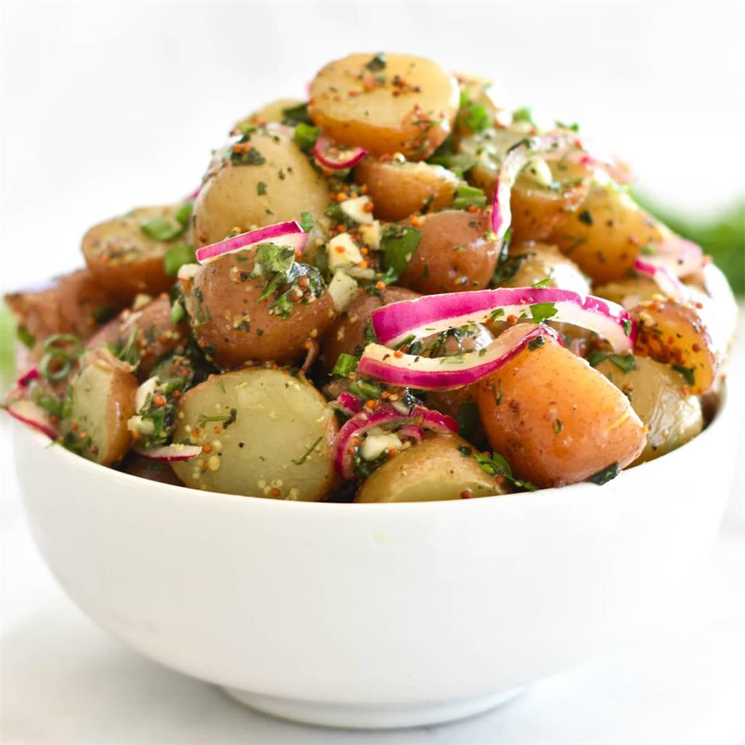 Healthy No Mayo Potato Salad
