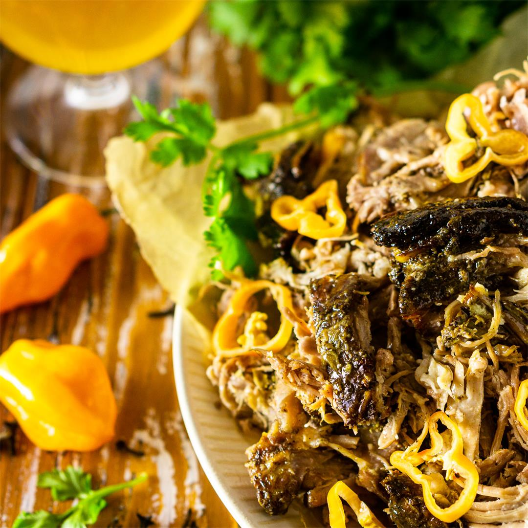 Jamaican Jerk Pork Shoulder (Oven and Slow Cooker Instructions)
