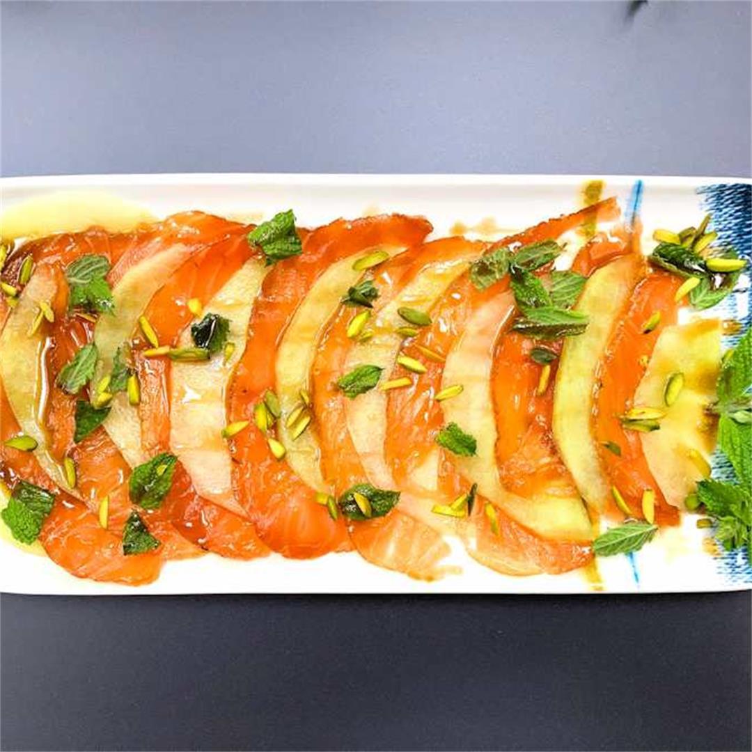 smoked salmon and melon salad