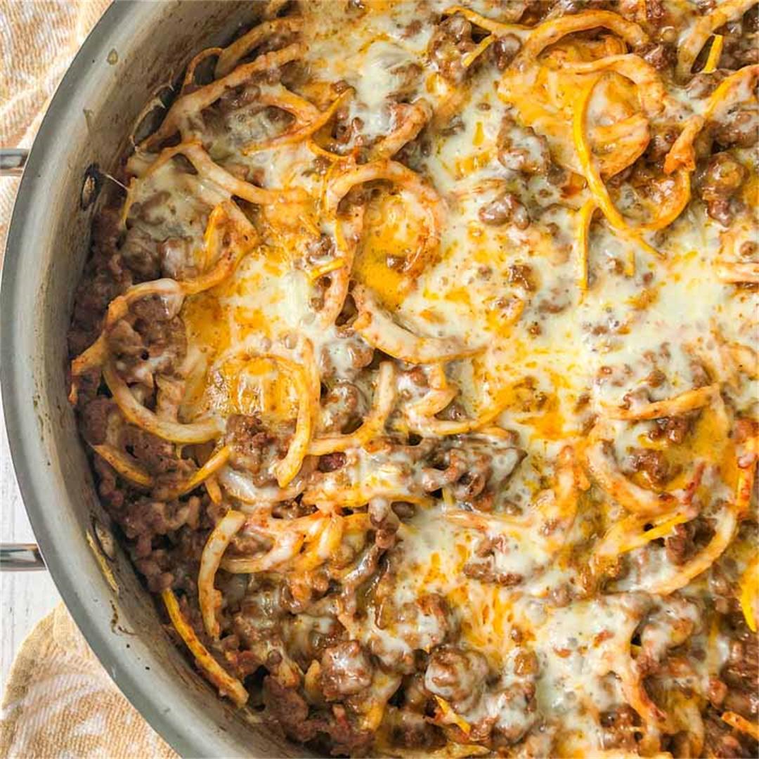 Low Carb Zucchini Ground Beef Casserole