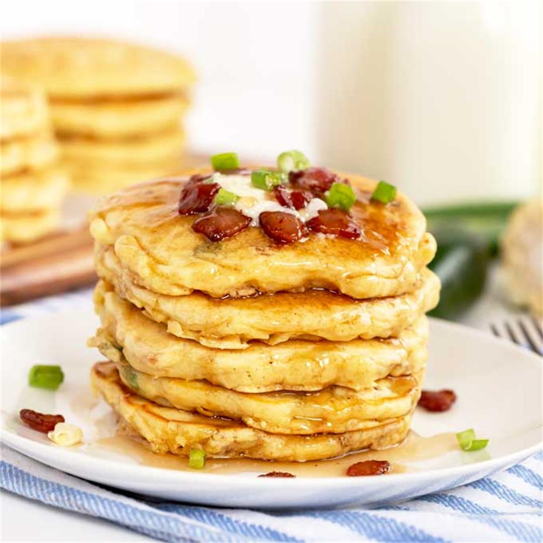 Corn Pancakes with Bacon