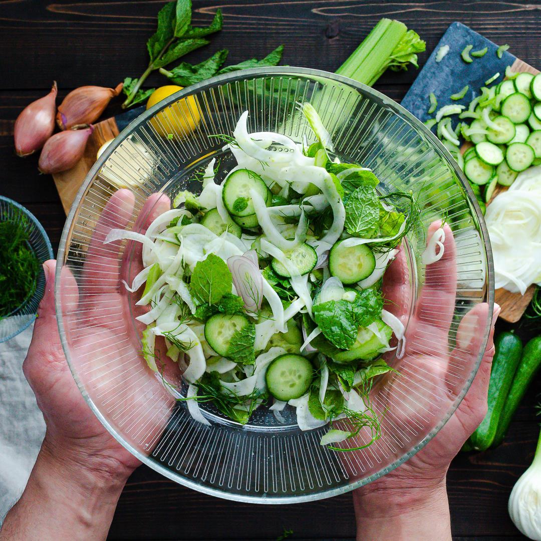 Fennel, cucumber & celery slaw