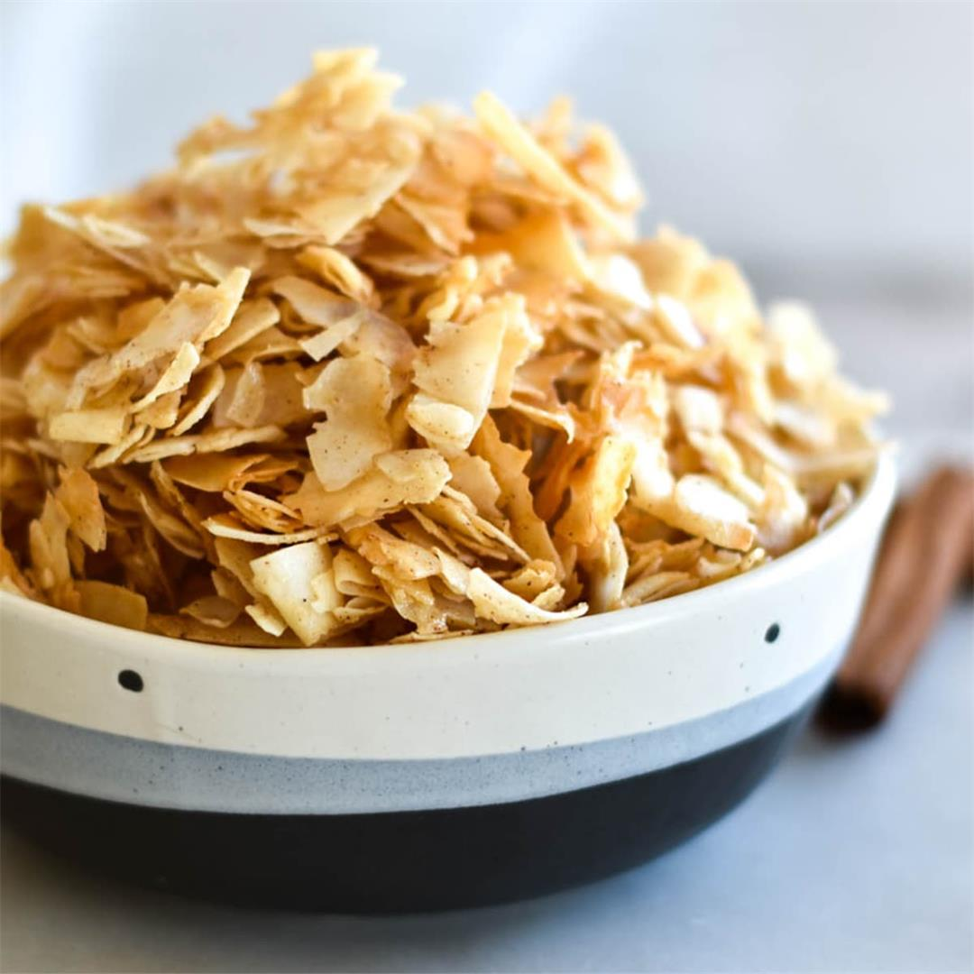 Paleo Pumpkin Spice Coconut Chips — Foodborne Wellness