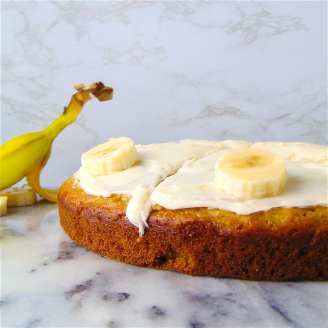 One Layer Banana Cake