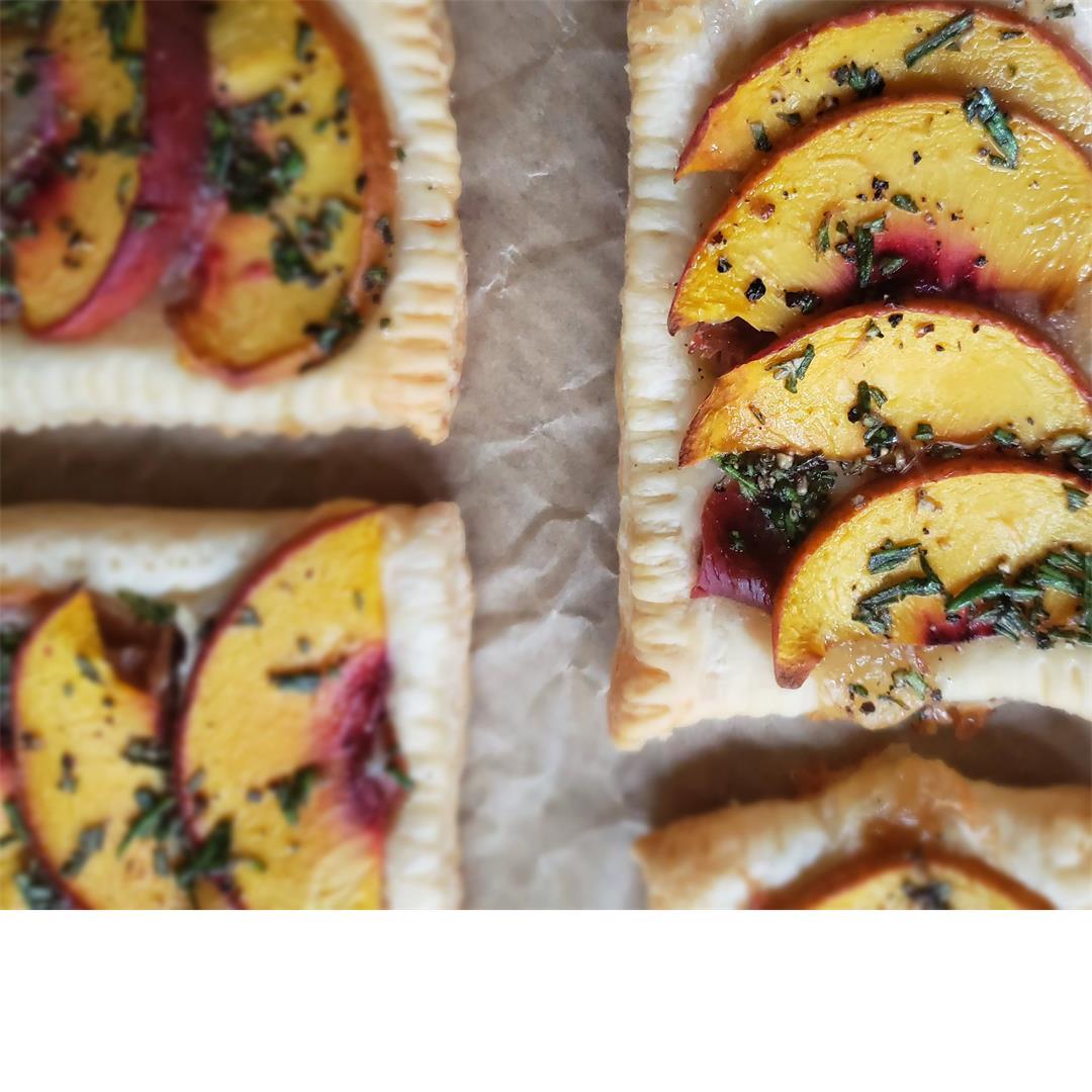 Savory Peach Tarts