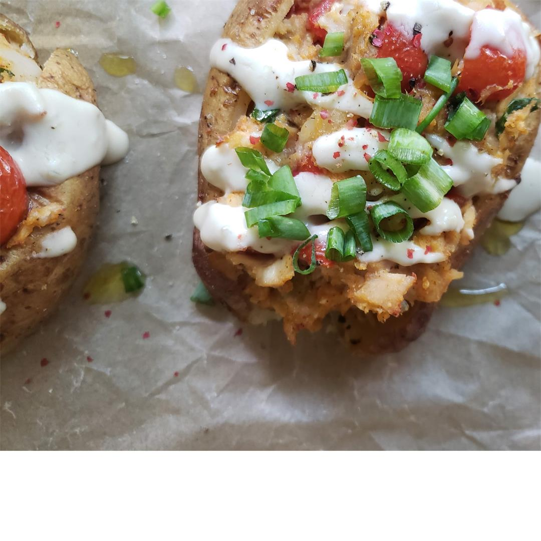 Loaded Chicken Baked Potatoes