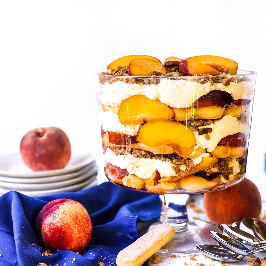 Easy Peach Crisp Trifle