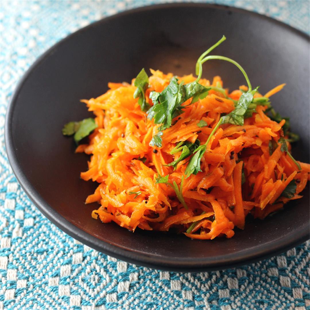 Tadka carrot salad