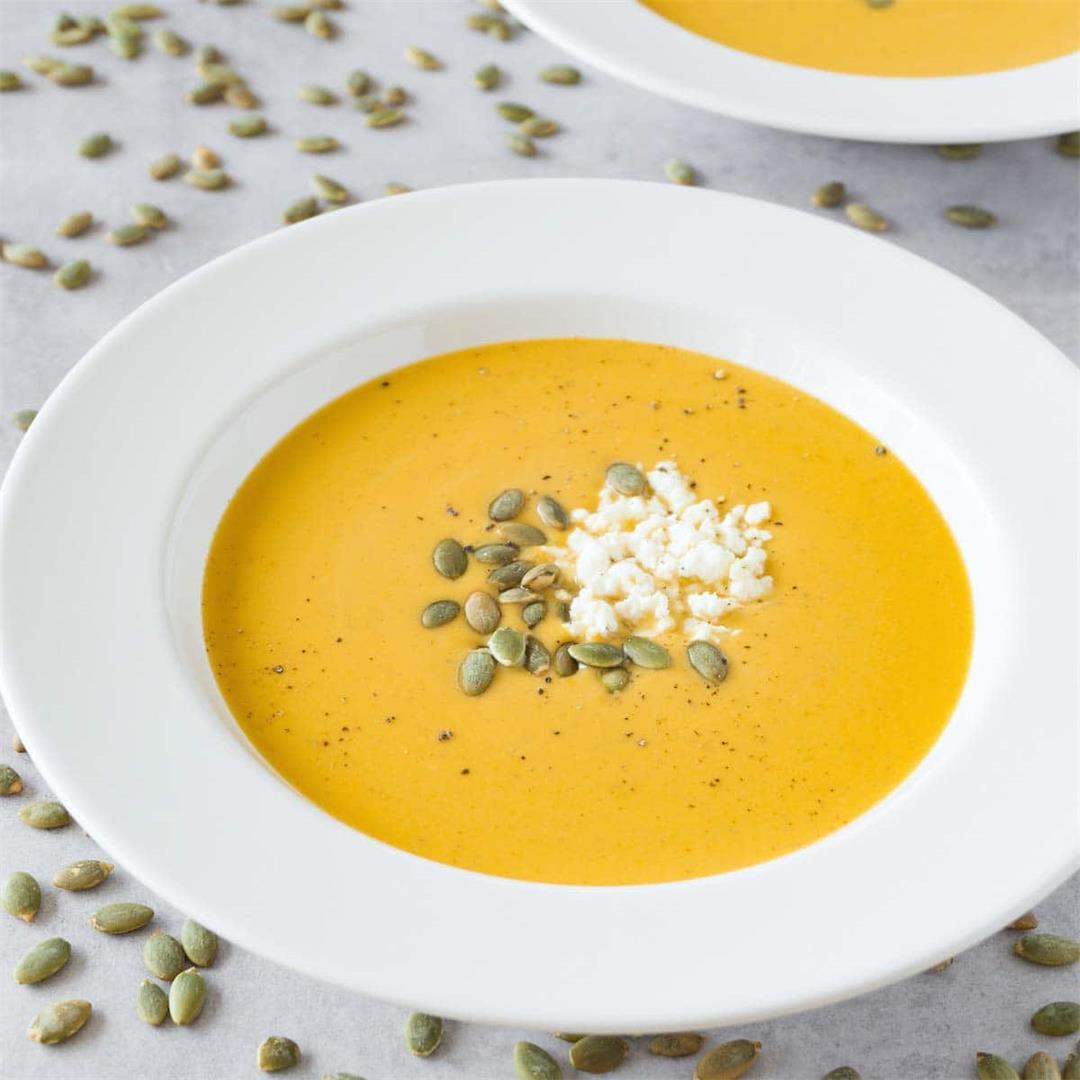 Creamy keto butternut squash soup recipe