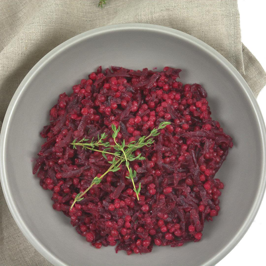 Pearl Couscous with Beets – A Gourmet Food Blog