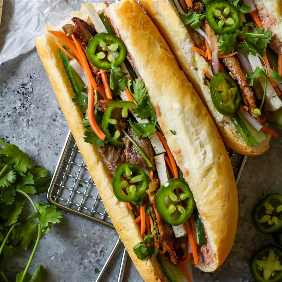 Vietnamese Lemongrass Pork Banh Mi - Cooking Therapy