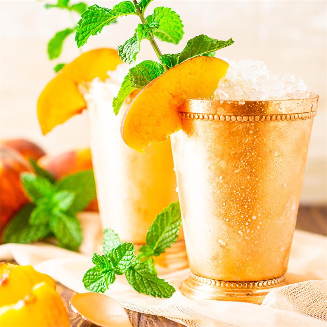 Brown Sugar-Peach Mint Julep