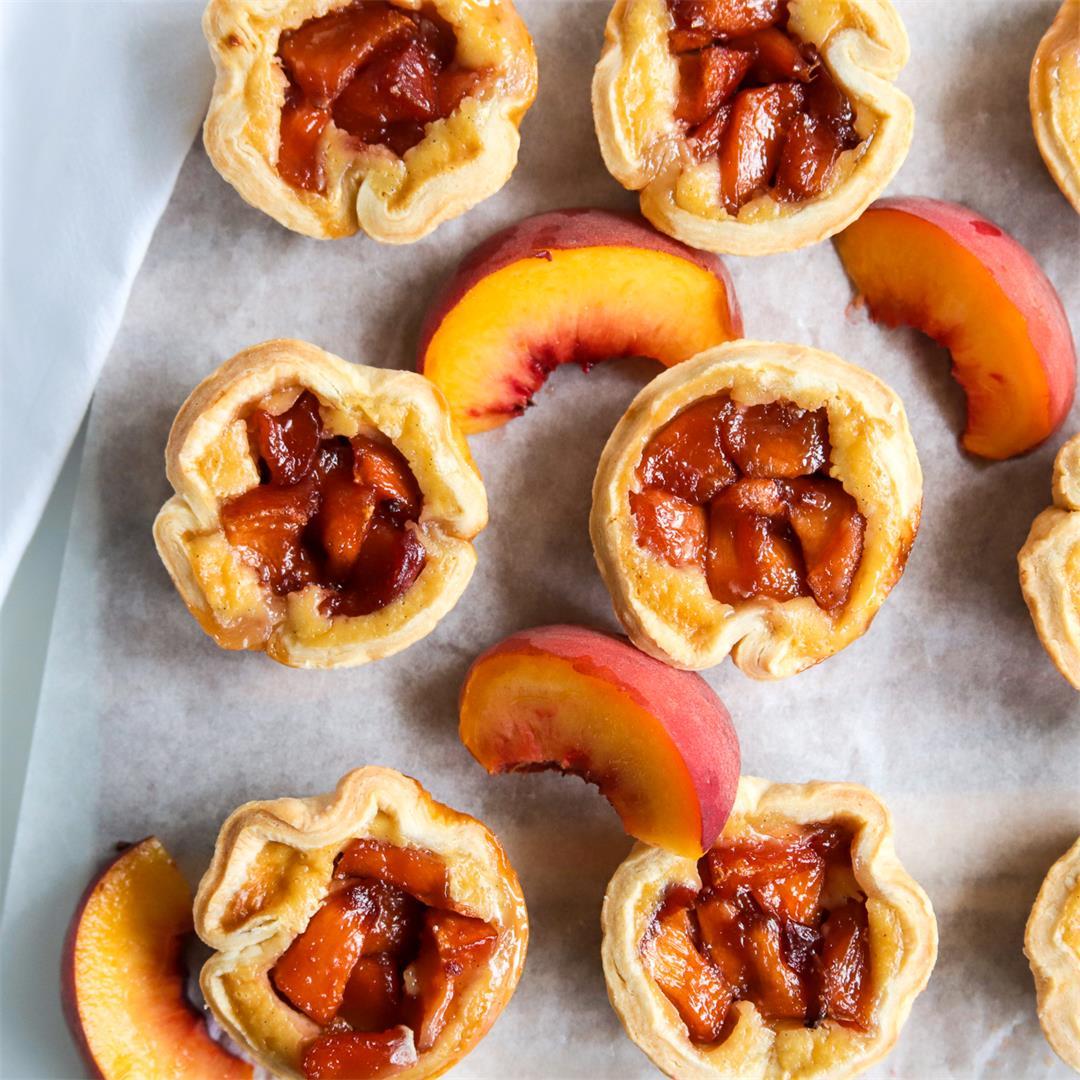 Peach Custard Mini Pies