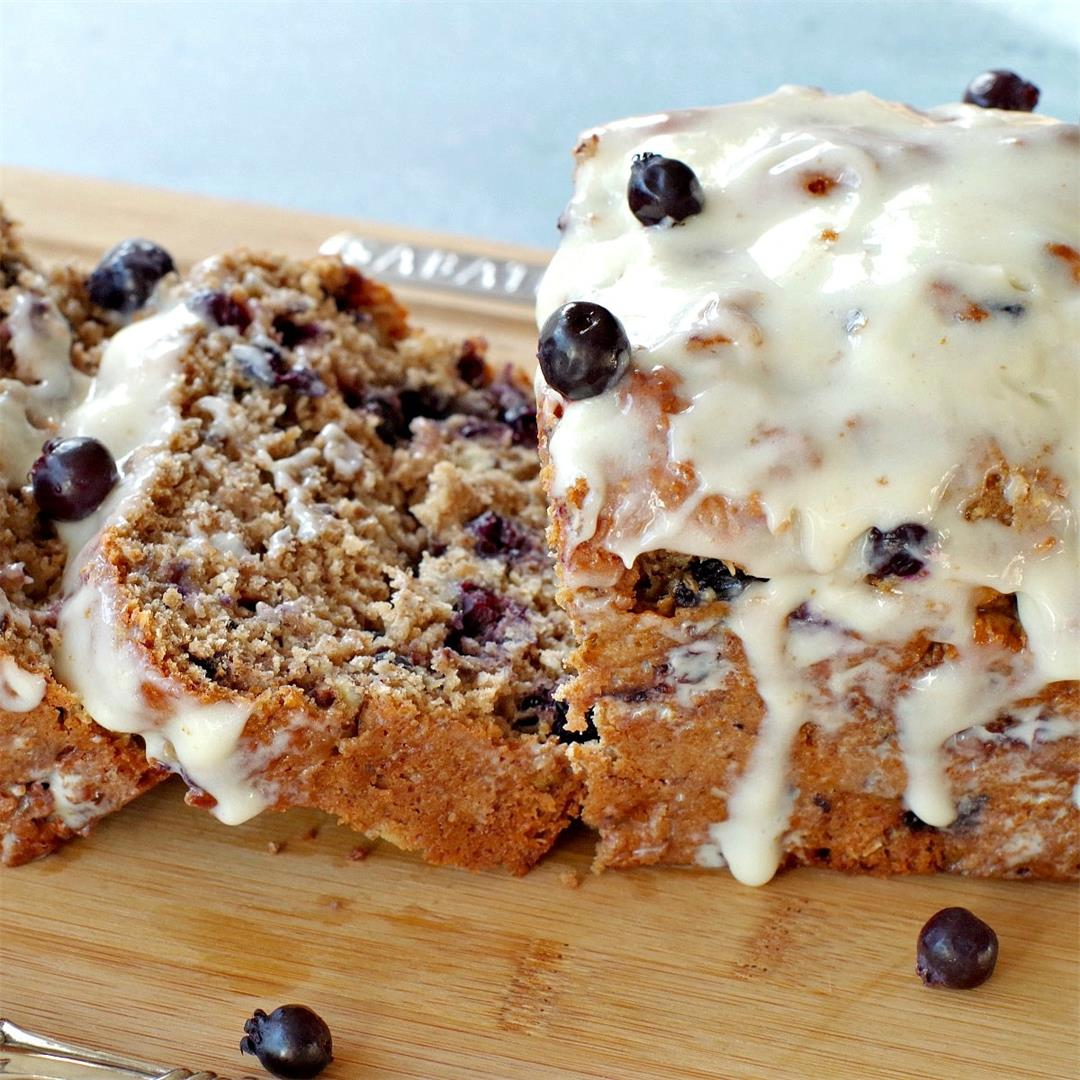 Saskatoon Berry Loaf with Brown Butter Glaze