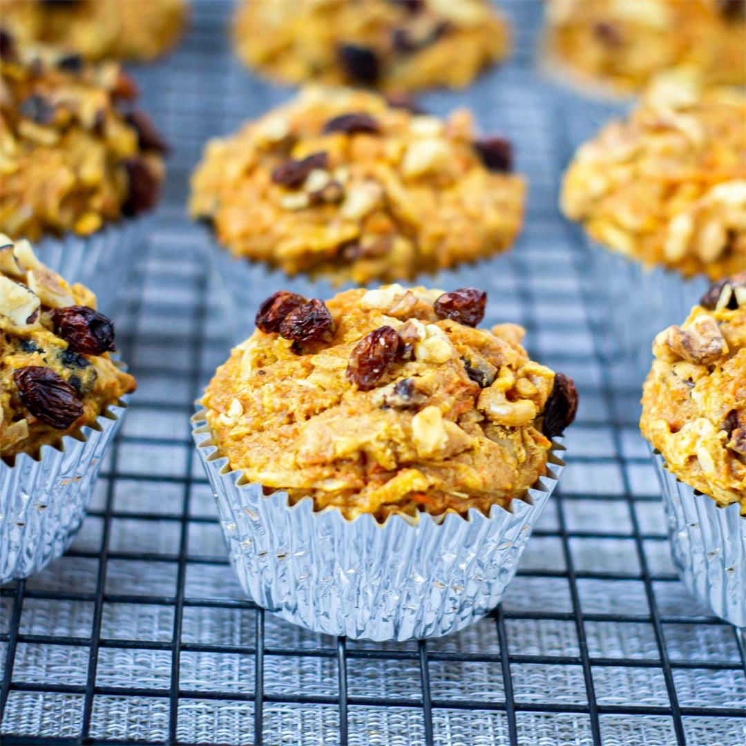 Coconut Raisin Morning Glory Muffins